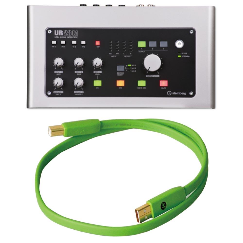 Steinberg UR28M 6×8 USBオーディオインターフェース OYAIDE Elec d+ USB class B 0.7m USBケーブル付きセット