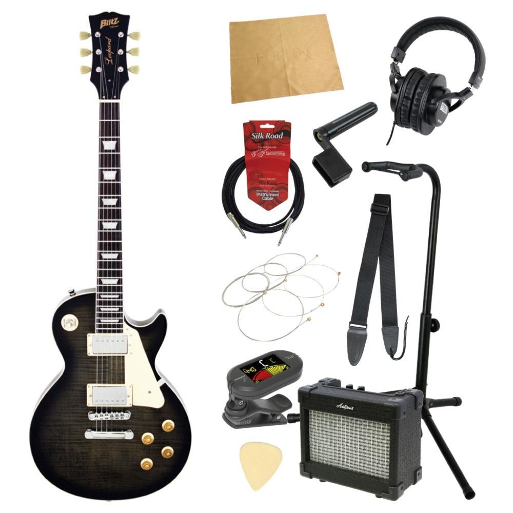 エレキギター入門11点セット BLITZ by ARIA BLP-450 SBK