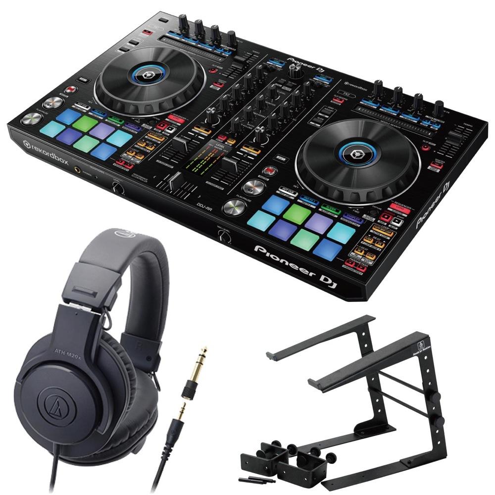 Pioneer DDJ-RR DJコントローラー LPS-002 ラップトップスタンド AUDIO-TECHNICA ATH-M20x ヘッドフォン 3点セット