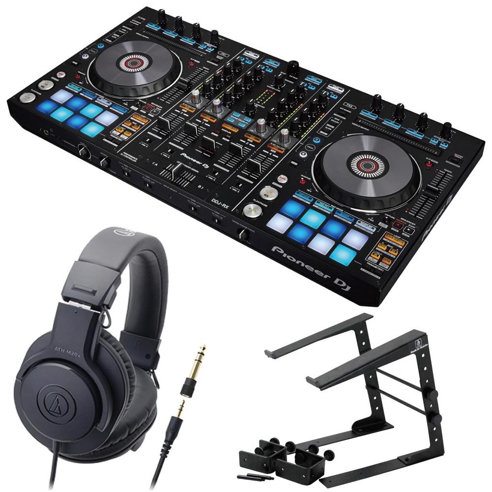 Pioneer DDJ-RX DJコントローラー LPS-002 ラップトップスタンド AUDIO-TECHNICA ATH-M20x ヘッドフォン 3点セット