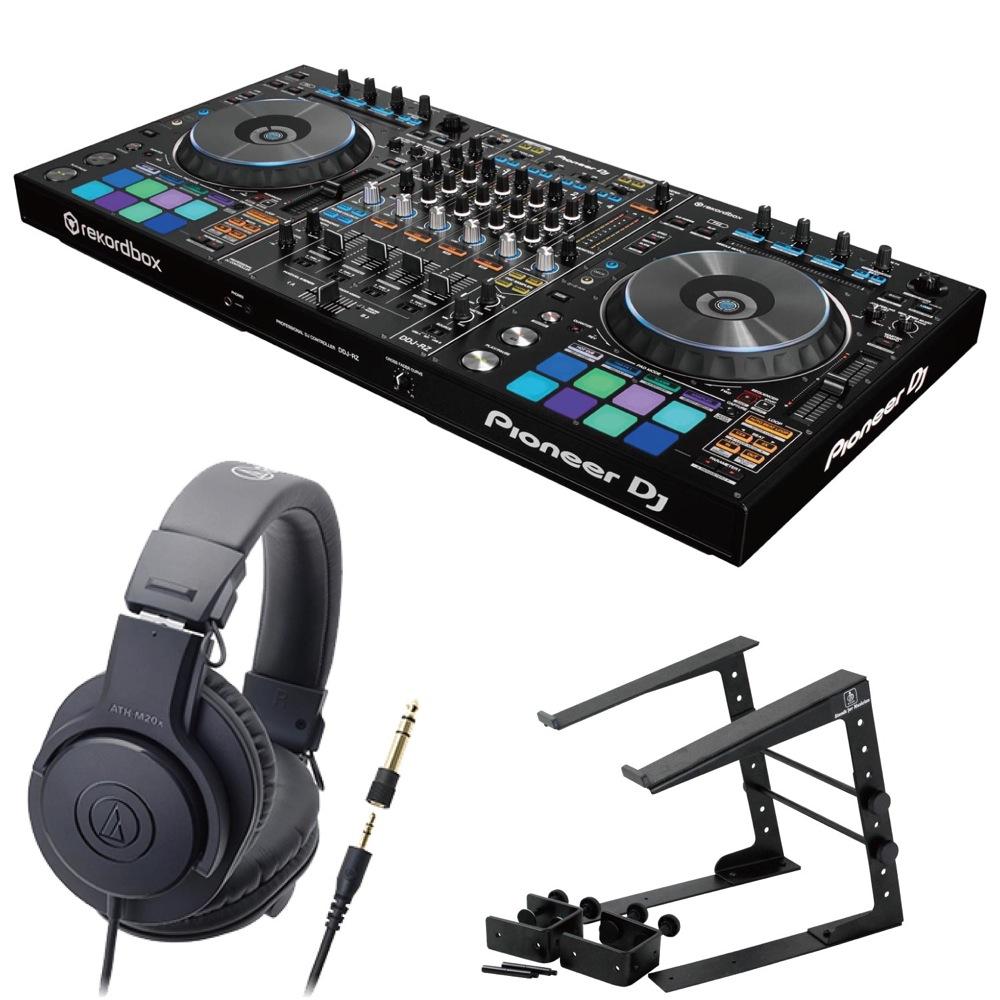 Pioneer DDJ-RZ DJコントローラー LPS-002 ラップトップスタンド AUDIO-TECHNICA ATH-M20x ヘッドフォン 3点セット