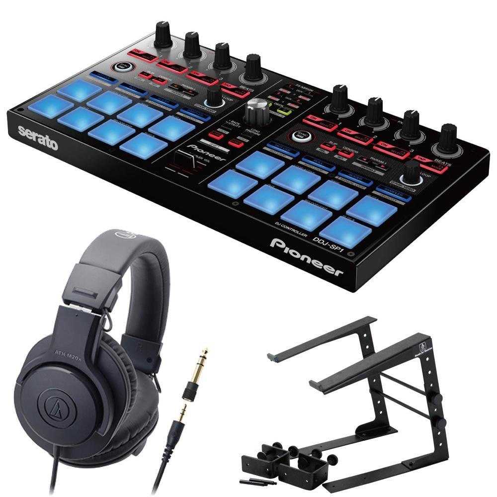 Pioneer DDJ-SP1 DJコントローラー LPS-002 ラップトップスタンド AUDIO-TECHNICA ATH-M20x ヘッドフォン 3点セット