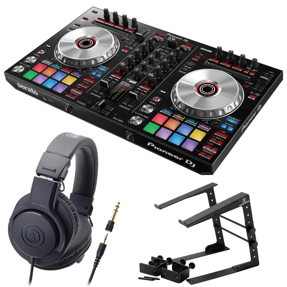 Pioneer DDJ-SR2 DJコントローラー LPS-002 ラップトップスタンド AUDIO-TECHNICA ATH-M20x ヘッドフォン 3点セット