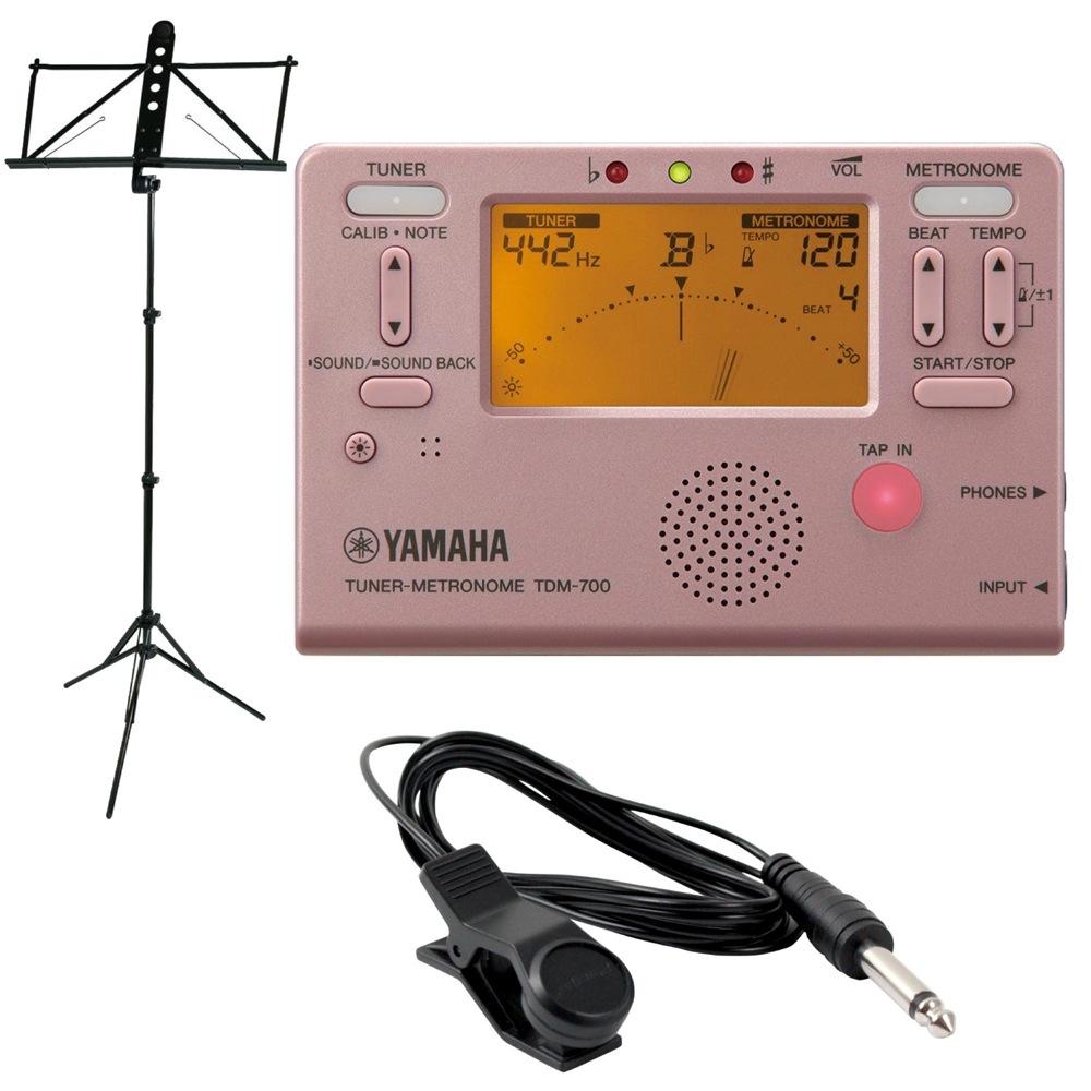 YAMAHA TDM-700P ピンク チューナーメトロノーム YAMAHA MS-250ALS 譜面台付き 3点セット