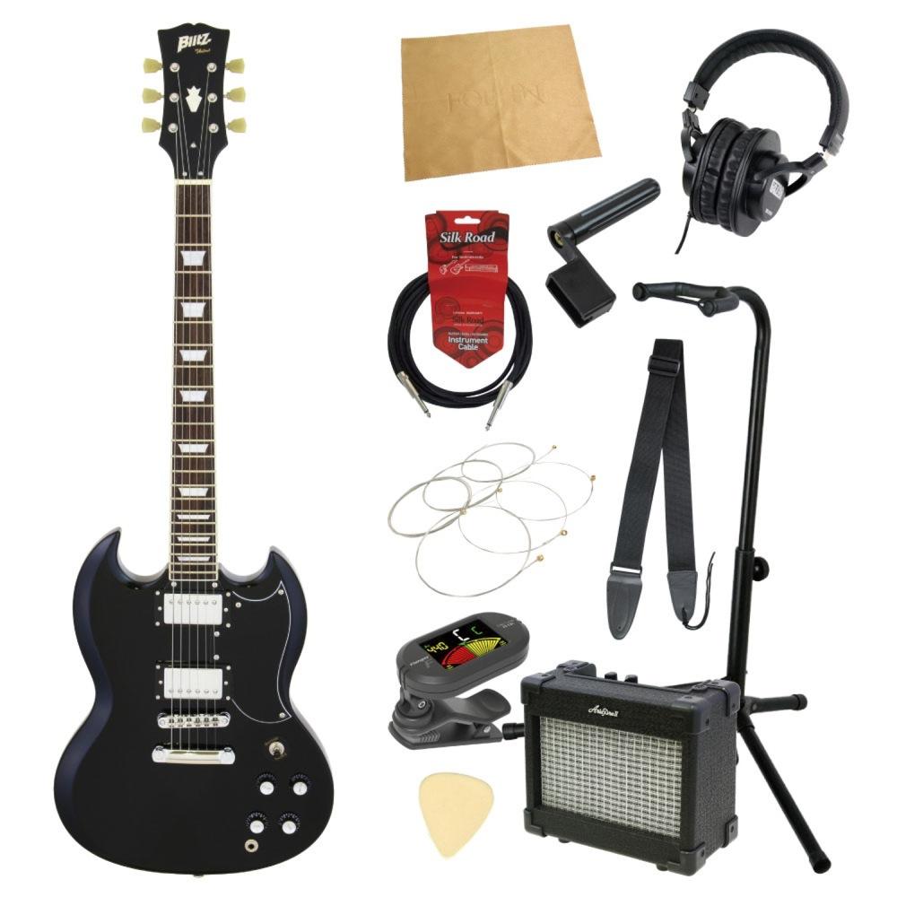 エレキギター入門11点セット BLITZ by ARIA BSG-61 BK