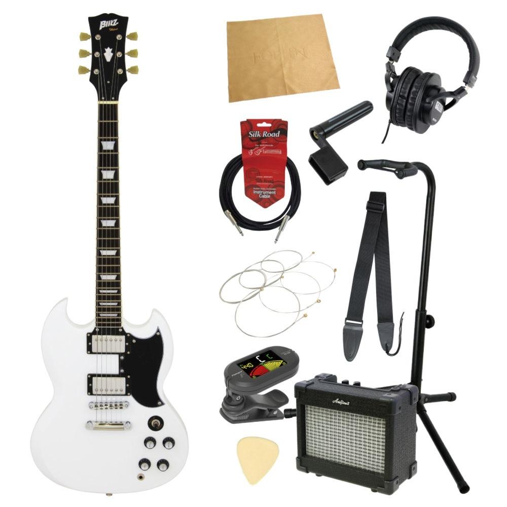 エレキギター入門11点セット BLITZ by ARIA BSG-61 WH