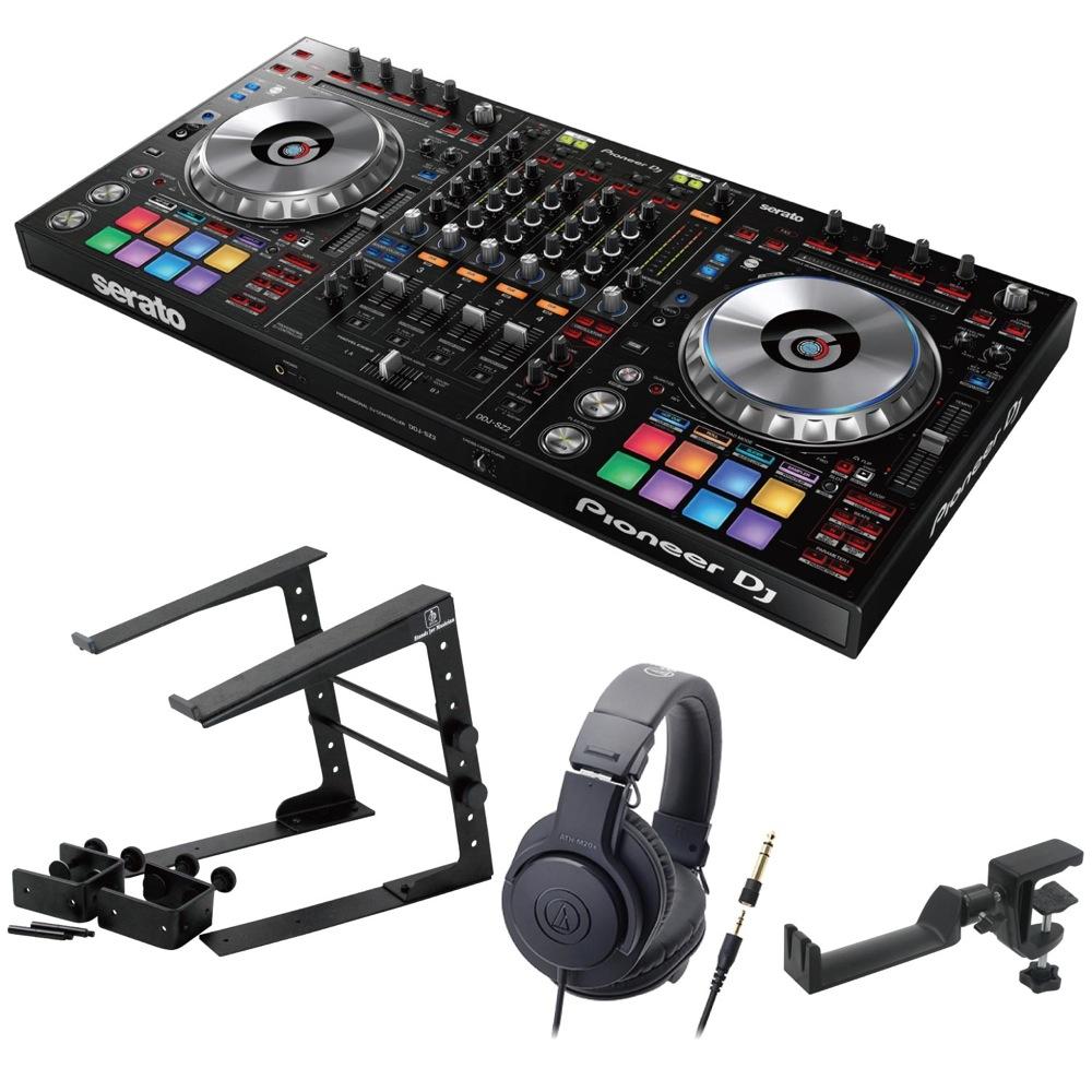 Pioneer DDJ-SZ2 DJコントローラー LPS-002 ラップトップスタンド AUDIO-TECHNICA ATH-M20x ヘッドフォン SEELETON ヘッドホンハンガー 4点セット