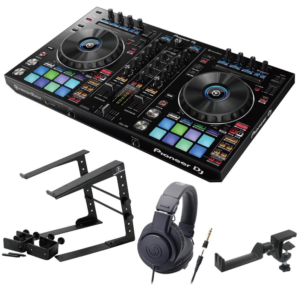 Pioneer DDJ-RR DJコントローラー LPS-002 ラップトップスタンド AUDIO-TECHNICA ATH-M20x ヘッドフォン SEELETON ヘッドホンハンガー 4点セット