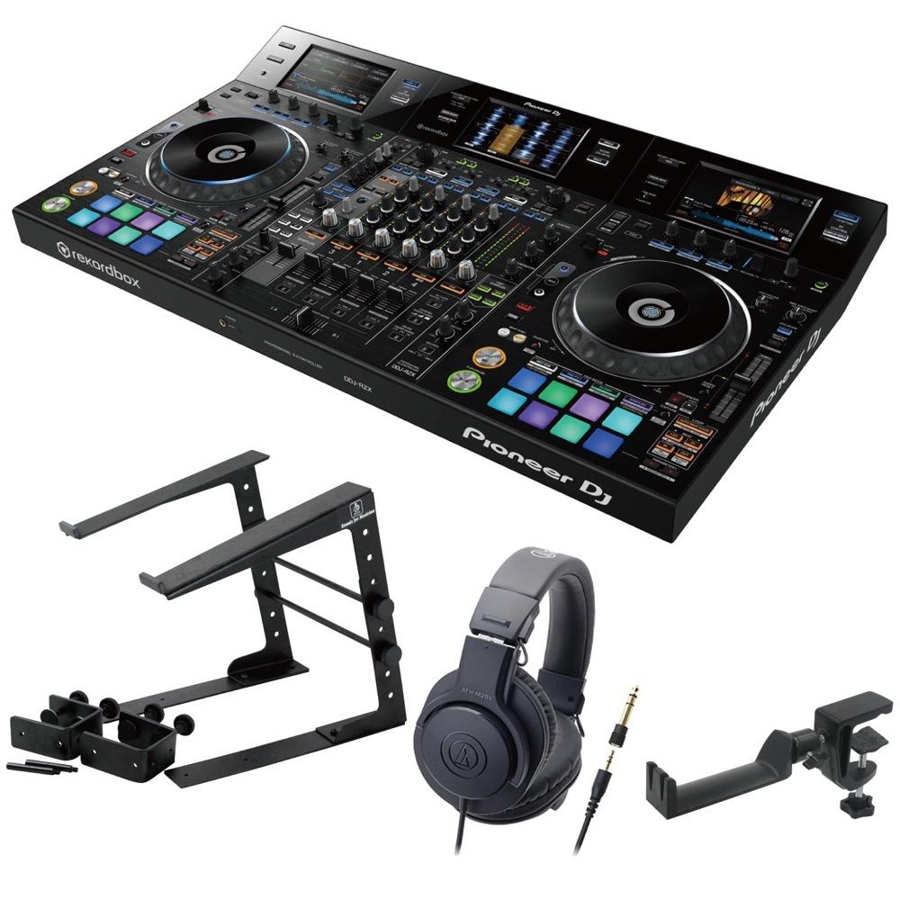 Pioneer DDJ-RZX DJコントローラー LPS-002 ラップトップスタンド AUDIO-TECHNICA ATH-M20x ヘッドフォン SEELETON ヘッドホンハンガー 4点セット