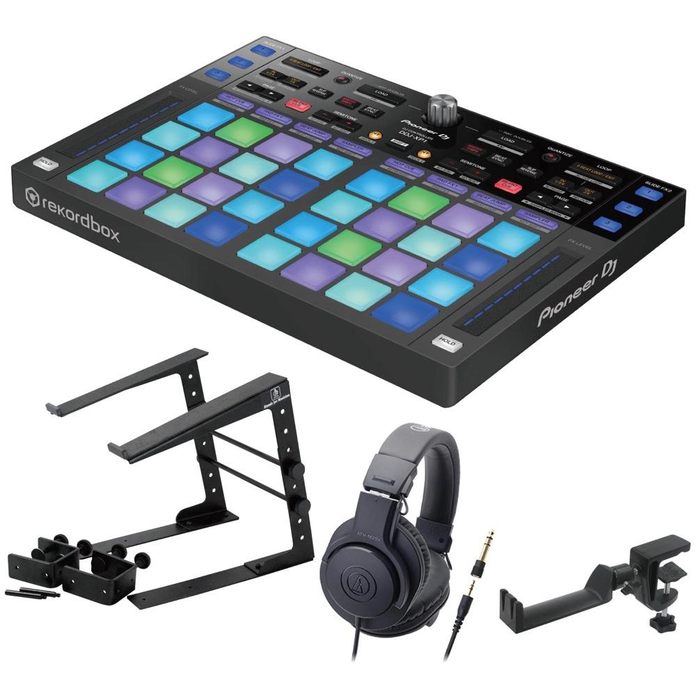 Pioneer DDJ-XP1 DJコントローラー LPS-002 ラップトップスタンド AUDIO-TECHNICA ATH-M20x ヘッドフォン SEELETON ヘッドホンハンガー 4点セット