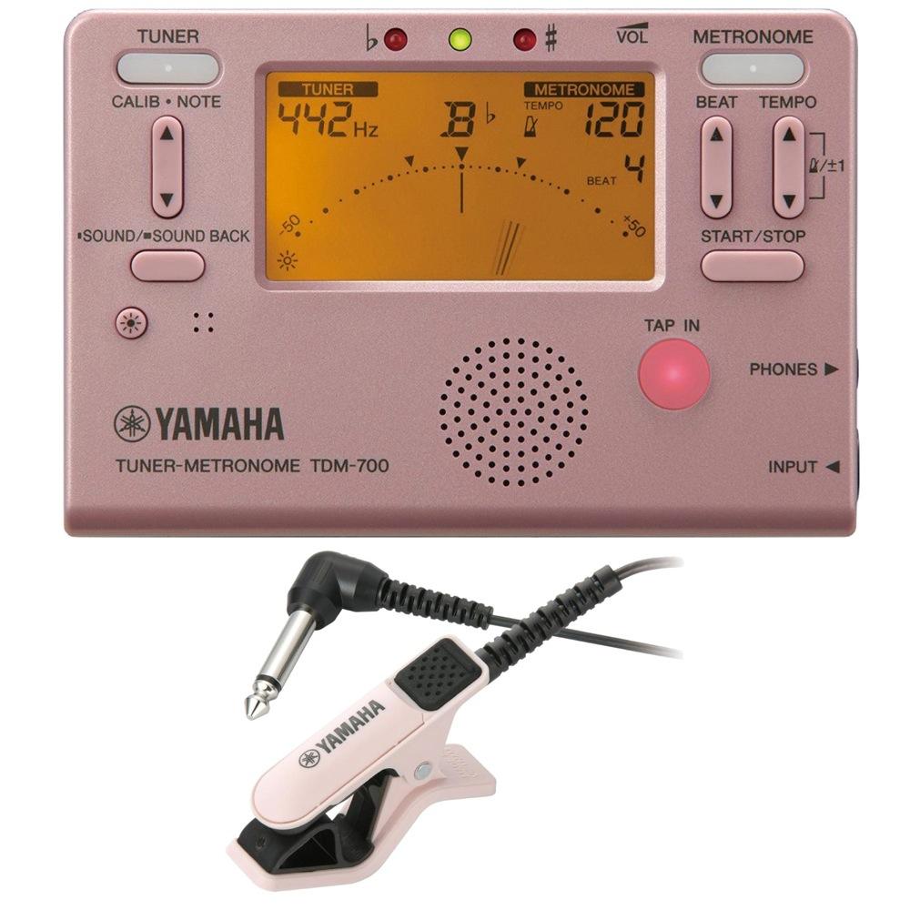 ヤマハ 定番メトロノーム機能付きチューナー 専用マイク付きセット 未使用品 YAMAHA 信用 TDM-700P チューナー 2点セット チューナー専用マイクロフォン付き メトロノーム TM-30PK