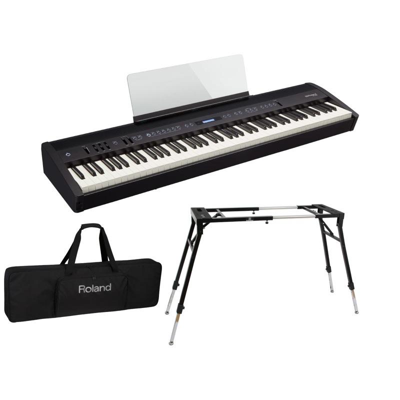 ROLAND FP-60 BK Digital Piano 電子ピアノ Dicon Audio KS-060 スタンド キーボードケース付き 3点セット