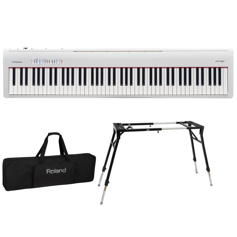 ROLAND FP-30 KS-060 ROLAND WH 電子ピアノ Dicon 3点セット Audio KS-060 スタンド キーボードケース付き 3点セット, 姫路流通センター:3d6afab2 --- gamenavi.club
