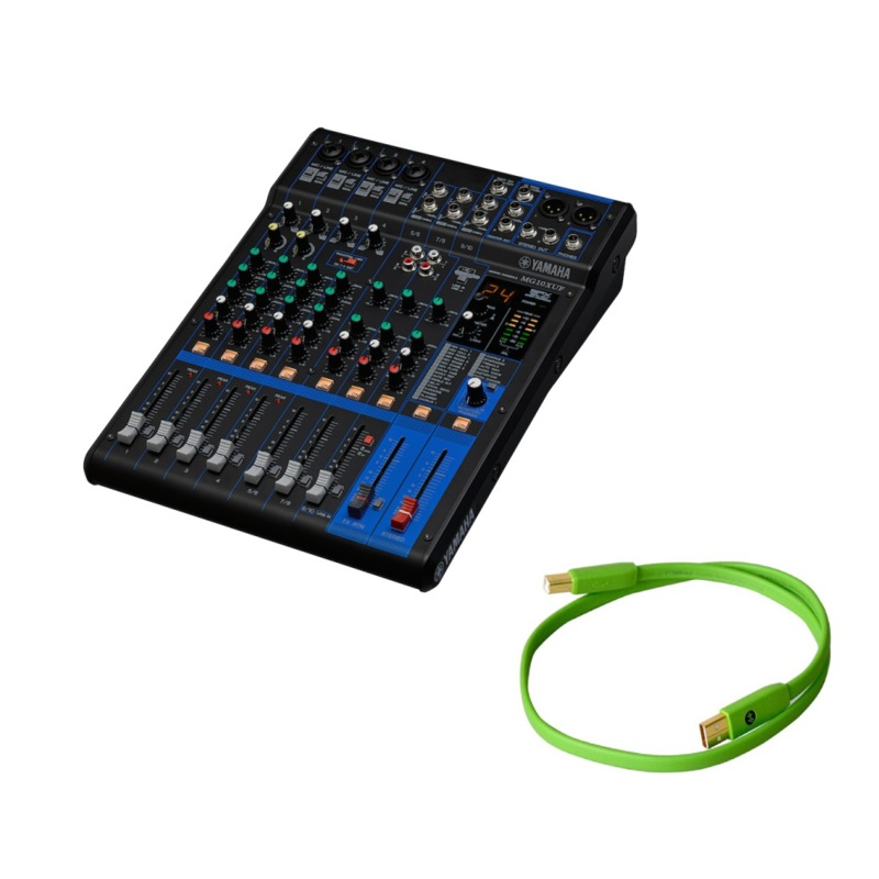 Set with the Yamaha MG10XUF audio system interface analog mixer NEO by  OYAIDE Elec d+ USB class B 0 7m USB cable