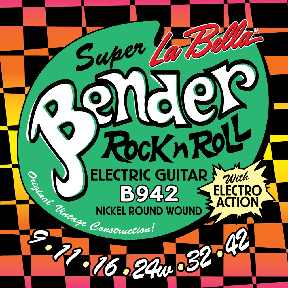 La Bella The Bender B942 SUPER LIGHT 09-42 エレキギター弦×12セット