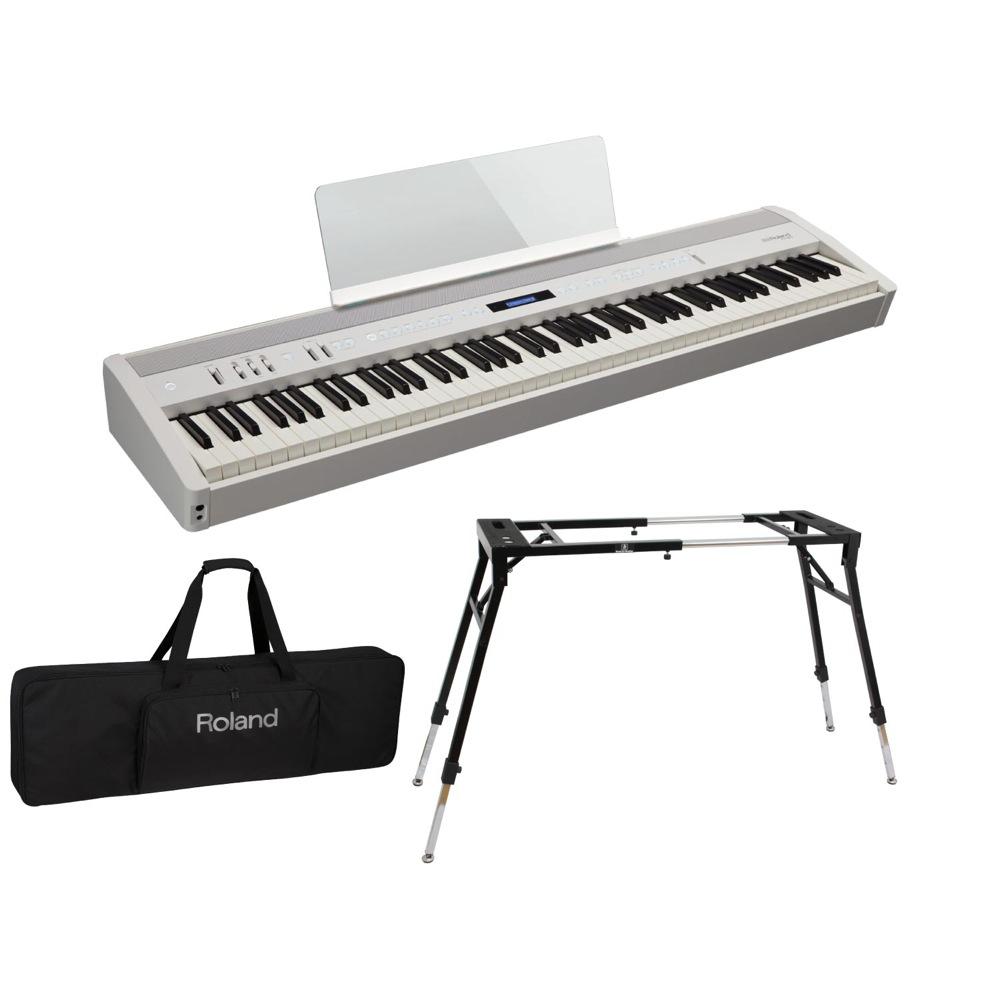 ROLAND FP-60 WH Digital Piano 電子ピアノ Dicon Audio KS-060 スタンド キーボードケース付き 3点セット