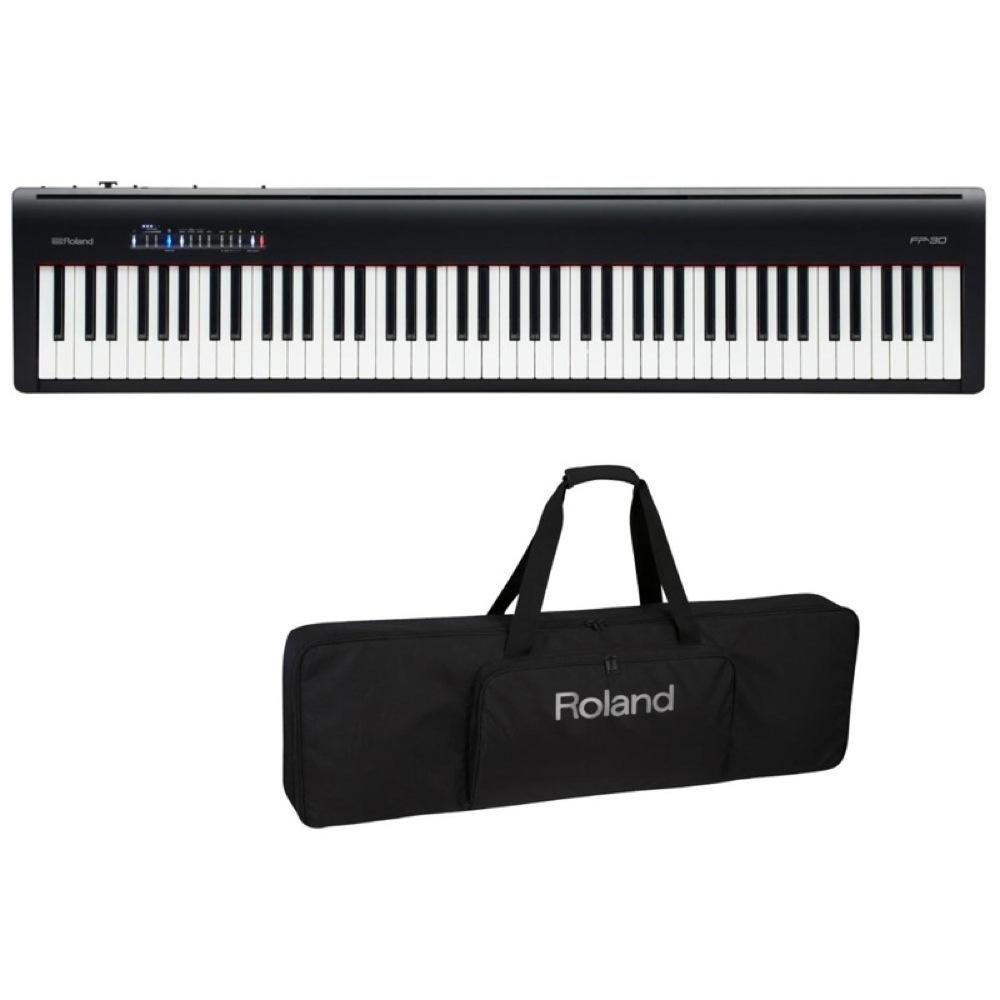 ROLAND FP-30 BK 電子ピアノ キーボードケース付き 2点セット