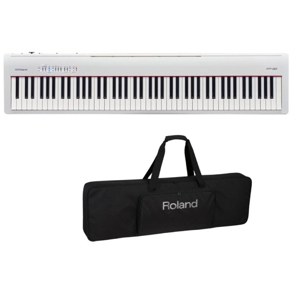 ROLAND FP-30 WH 電子ピアノ キーボードケース付き 2点セット