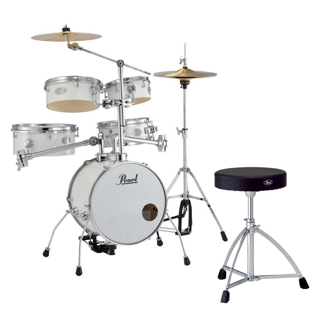 Pearl RT-645N/C #33 Rhythm Traveler Version.3S ピュアホワイト Pearl D-730S ドラムスローン付きセット