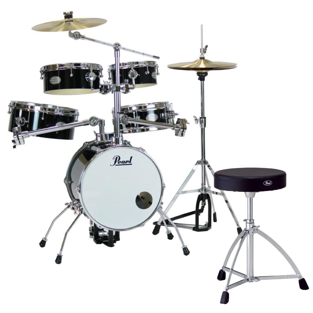Pearl RT-645N/C #31 Rhythm Traveler Version.3S ジェットブラック Pearl D-730S ドラムスローン付きセット