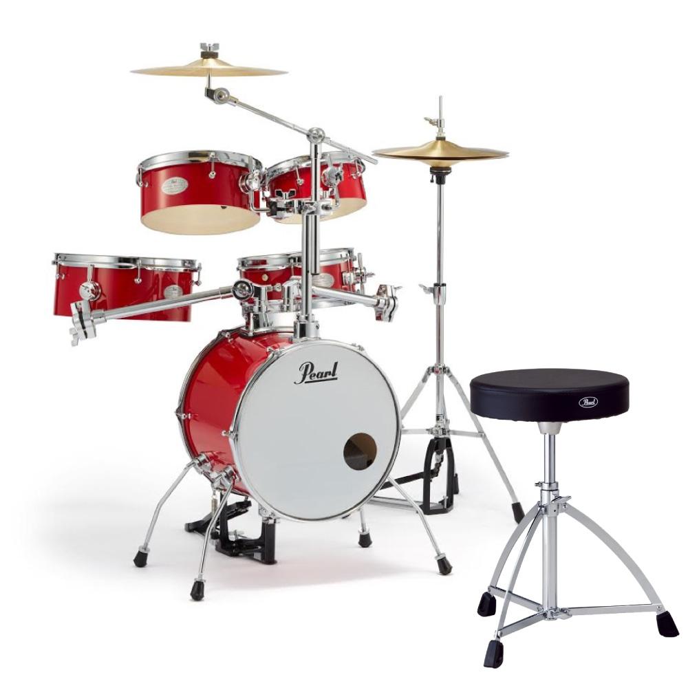 Pearl RT-645N/C #94 Rhythm Traveler Version.3S キャンディアップル Pearl D-730S ドラムスローン付きセット