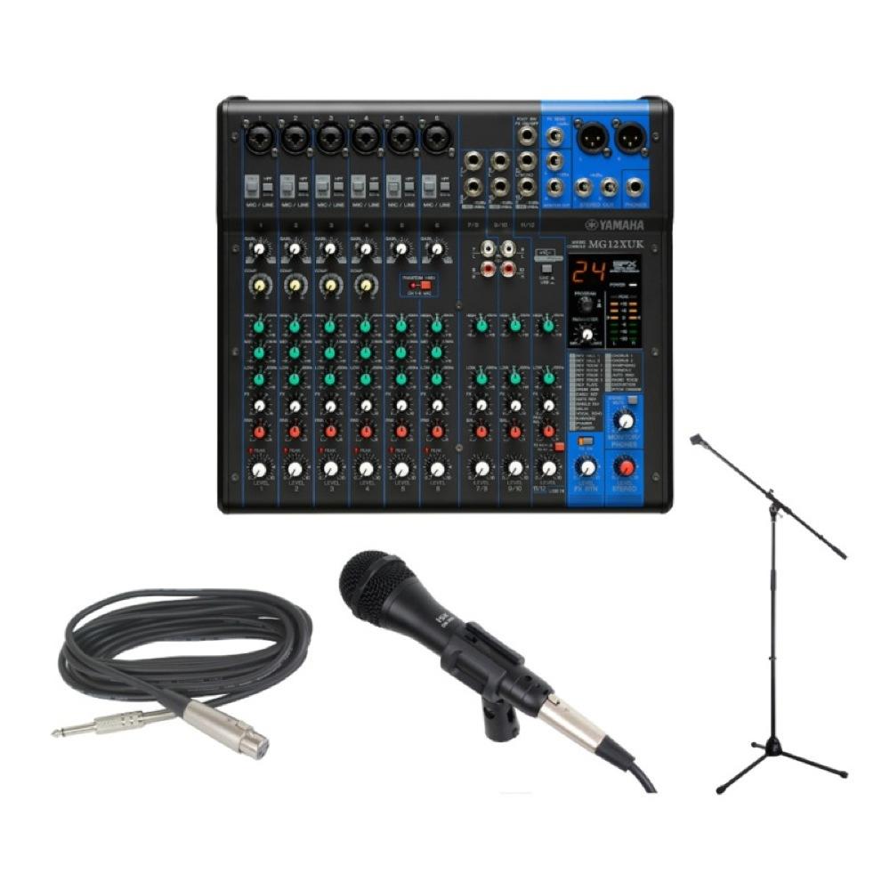 YAMAHA MG12XUK オーディオインターフェース アナログミキサー iSK DM-3600 ボーカル用マイク Dicon Audio MS-003 マイクスタンドセット