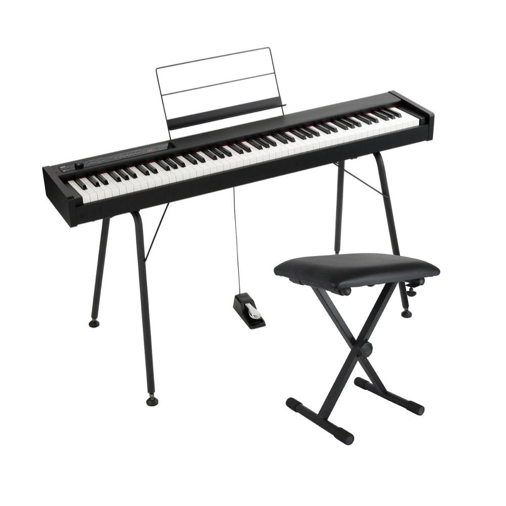 KORG D1 DIGITAL PIANO 電子ピアノ 純正スタンド&X型キーボードベンチ付きセット