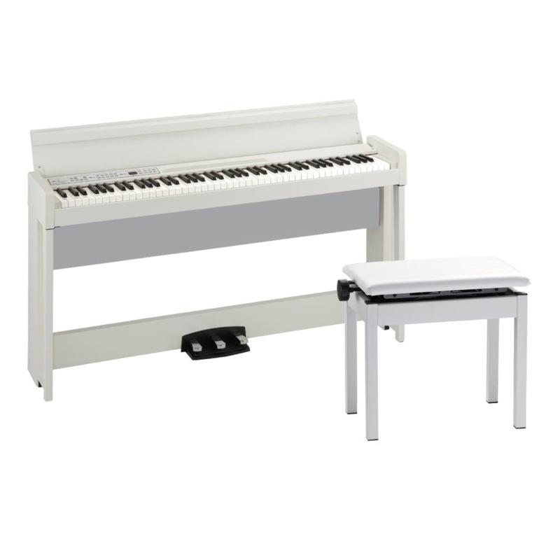 KORG C1 AIR WH 電子ピアノ 高低自在イス付き ホワイト