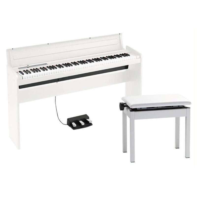 KORG LP-180 WH 電子ピアノ 高低自在イス付き ホワイト