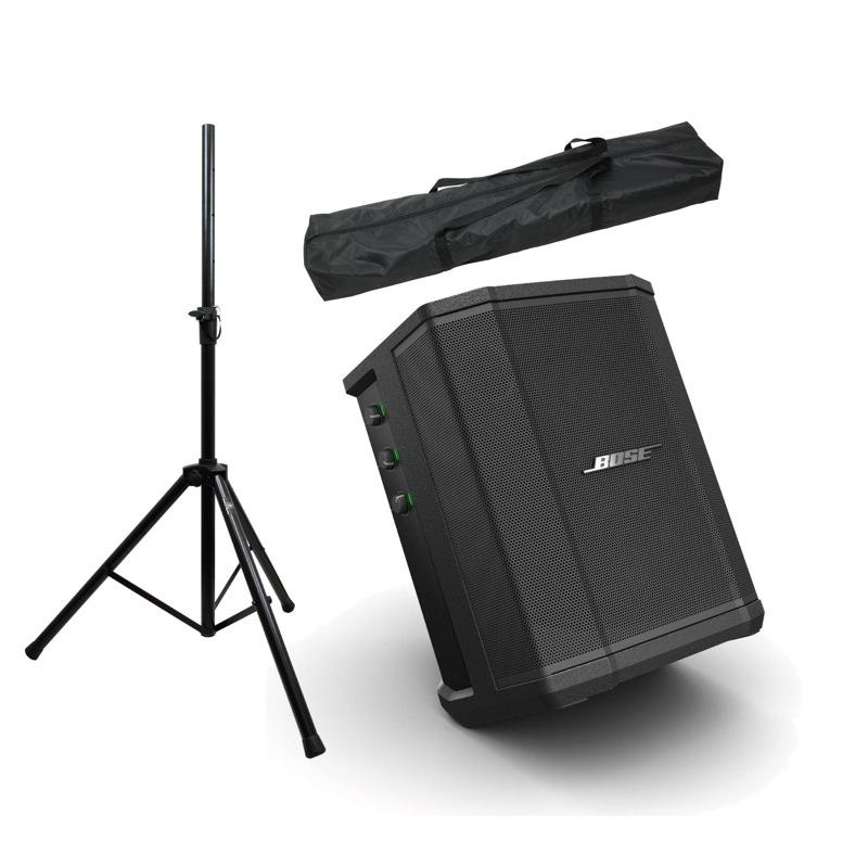 Bose S1 Pro 3ch 簡易PAシステム バッテリー同梱 Dicon Audio SS-062 スピーカースタンド(ペア)付き PAセット [Aset]