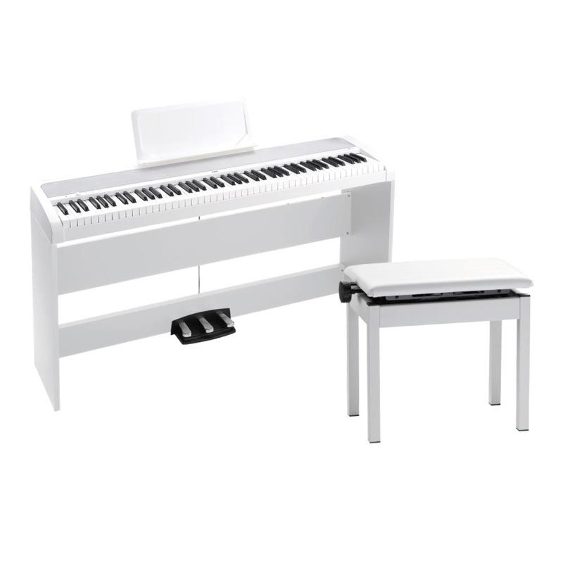 KORG B1SP WH 電子ピアノ 高低自在イス付き ホワイト