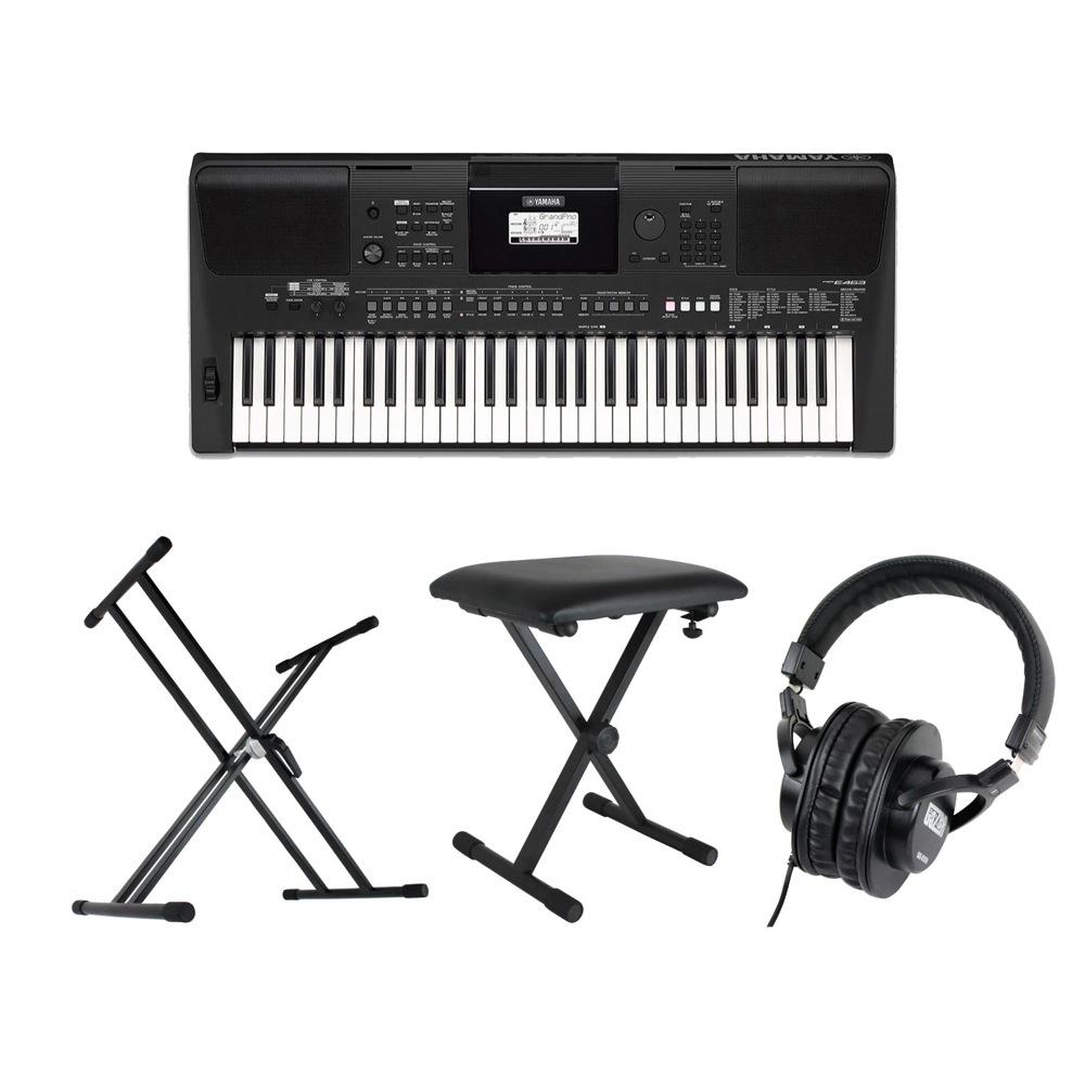 YAMAHA PSR-E463 PORTATONE 61鍵盤 電子キーボード キーボードスタンド キーボードベンチ ヘッドホン 4点セット [鍵盤 Cset]
