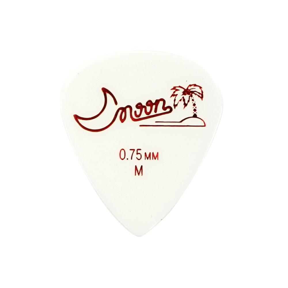 Moon M 0.75 WH ティアドロップ型 ギターピック×50枚