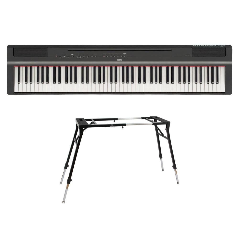 YAMAHA P-125B ブラック 電子ピアノ キーボードスタンド 2点セット [鍵盤 Dset]
