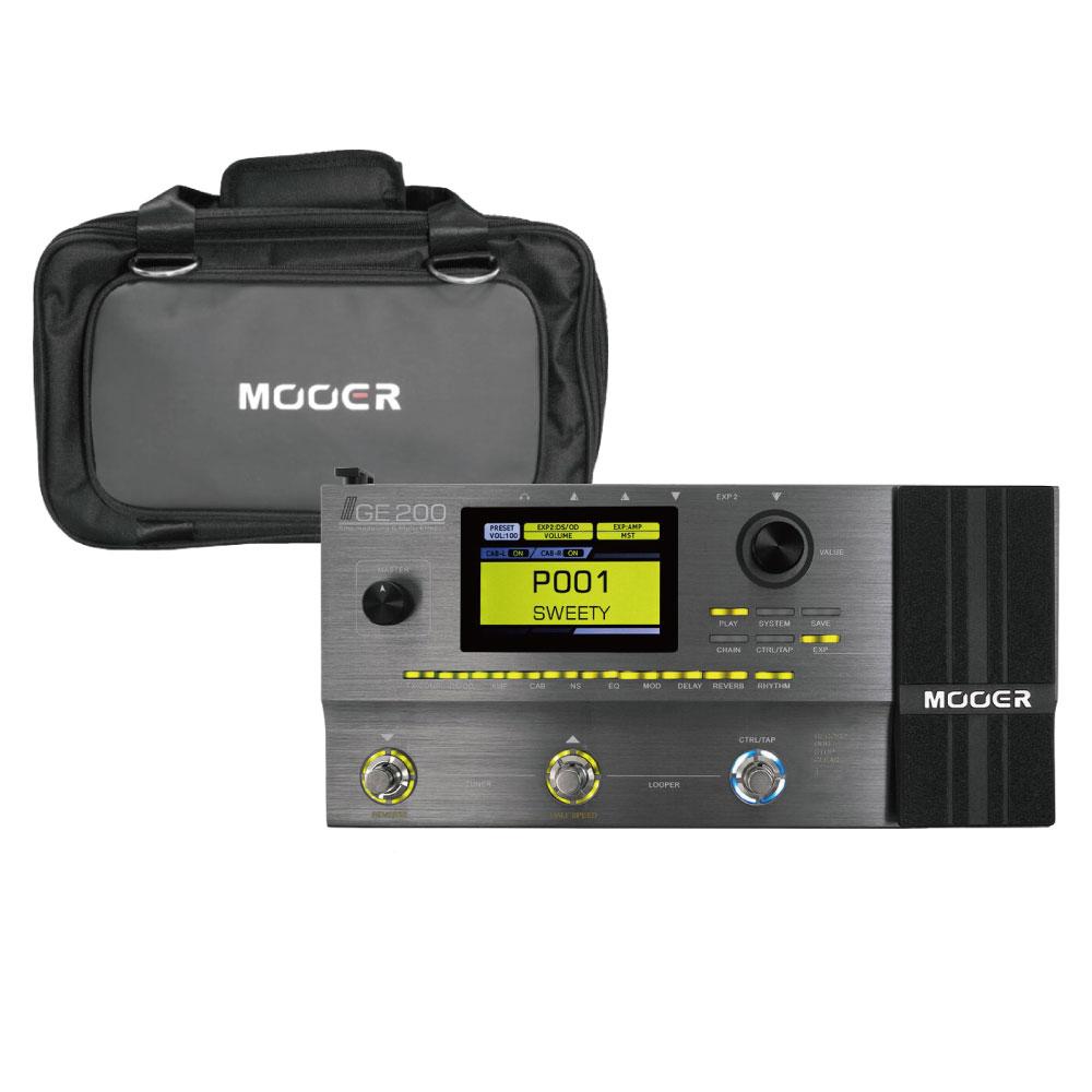 Mooer GE200 マルチエフェクター 専用キャリーケース SC-200付き セット
