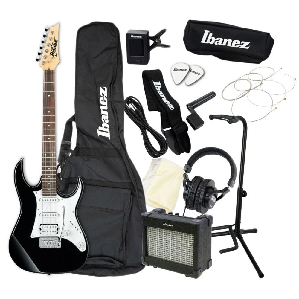 エレキギター 入門セット IBANEZ GRX40 BKN アクセサリーセット付き