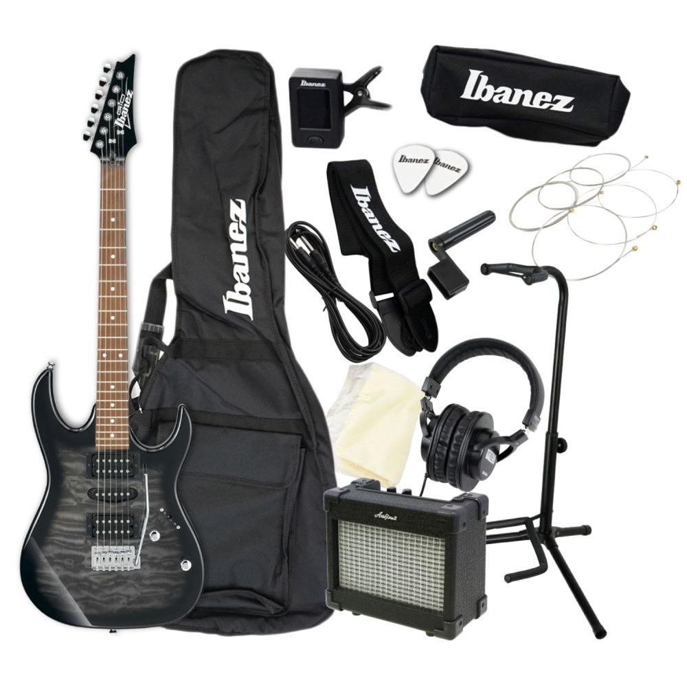 エレキギター 入門セット IBANEZ GIO GRX70QA-TKS アクセサリーセット付き
