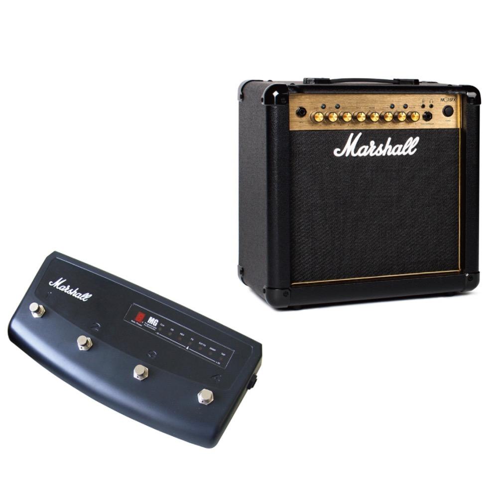 MARSHALL MG15FX ギターアンプ 専用フットコントローラー MARSHALL Footcontroller PEDL90008付きセット