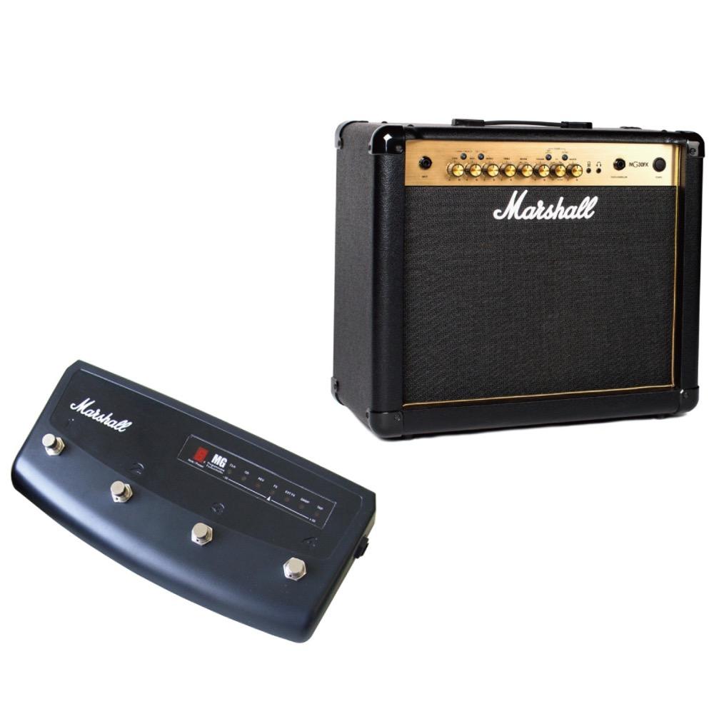 MARSHALL MG30FX ギターアンプ 専用フットコントローラー MARSHALL PEDL90008付きセット