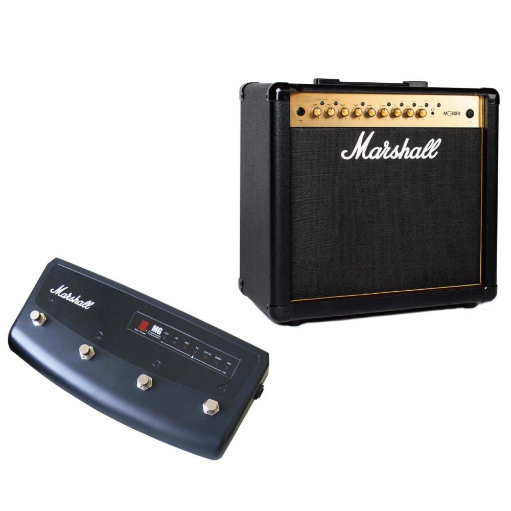 MARSHALL MG50FX ギターアンプ 専用フットコントローラー MARSHALL PEDL90008付きセット
