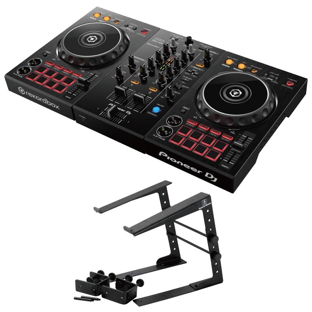 Pioneer DDJ-400 DJコントローラー Dicon Audio LPS-002 ラップトップスタンド 2点セット