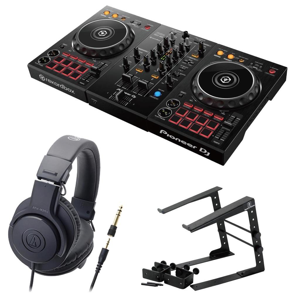 Pioneer DDJ-400 DJコントローラー LPS-002 ラップトップスタンド AUDIO-TECHNICA ATH-M20x ヘッドフォン 3点セット