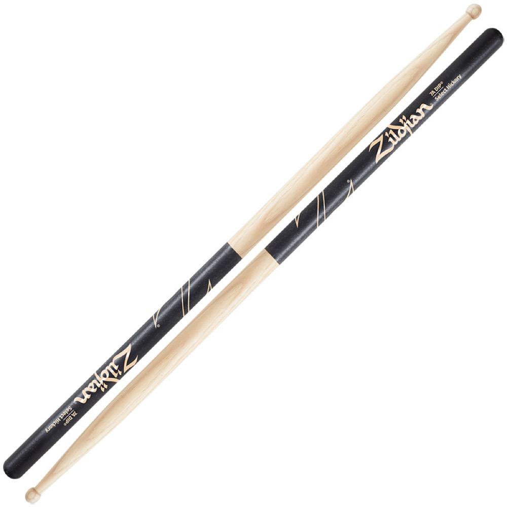 ZILDJIAN LAZLZ7AD Hickory Series 7A WOOD BLACK DIP ドラムスティック×6セット