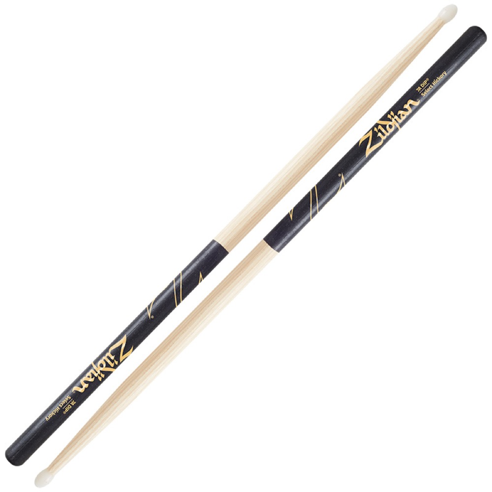 ZILDJIAN LAZLZ7AND Hickory Series 7A NYLON BLACK DIP ドラムスティック×6セット