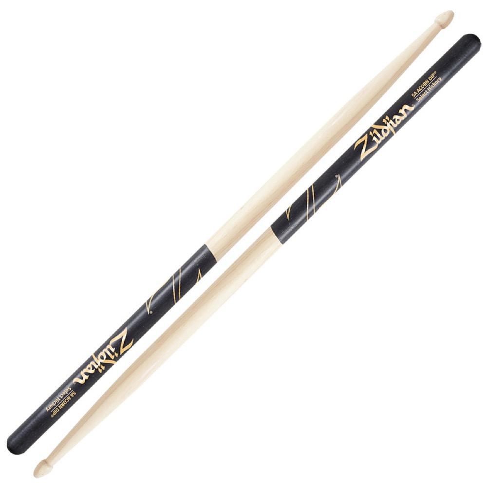 ZILDJIAN LAZLZ5AACD Hickory Series 5A ACORN BLACK DIP ドラムスティック×6セット