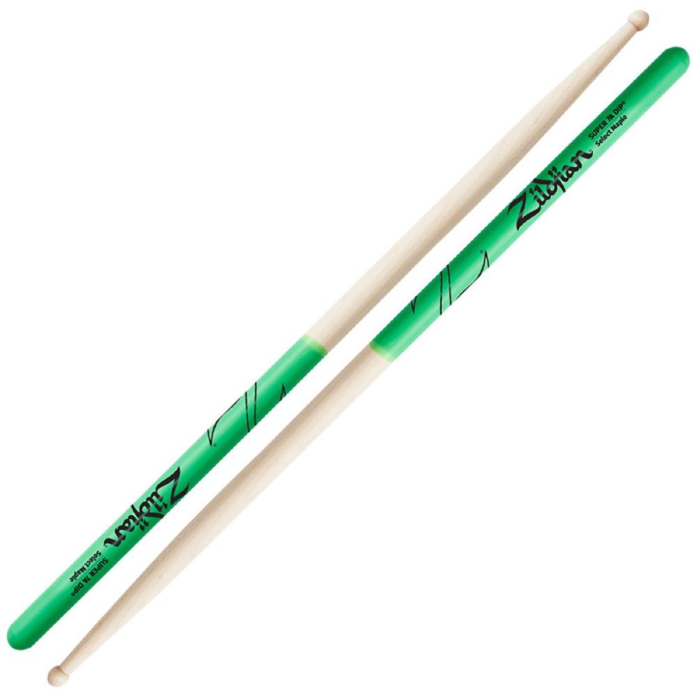 ZILDJIAN LAZLZS7AMDG Maple Series SUPER 7A GREEN DIP ドラムスティック×6セット