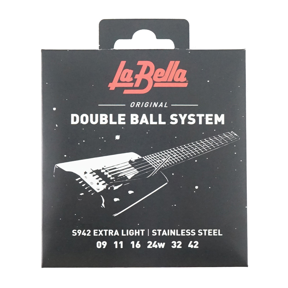 La Bella S942 Extra Light Doble Ball System 09-42 エレキギター弦×6セット