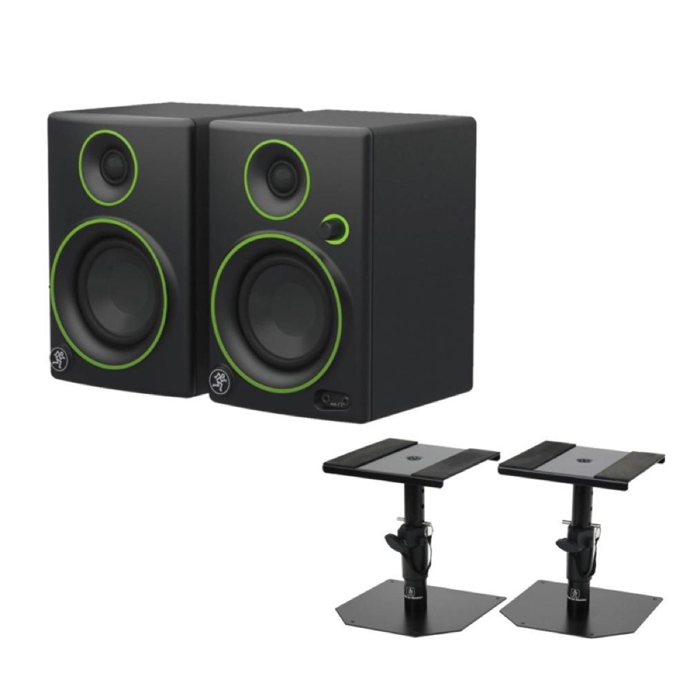 MACKIE CR3 Multi Media Monitor Speaker 1ペア モニタースピーカー Dicon Audio SS-032R 卓上モニタースピーカースタンド 付きセット