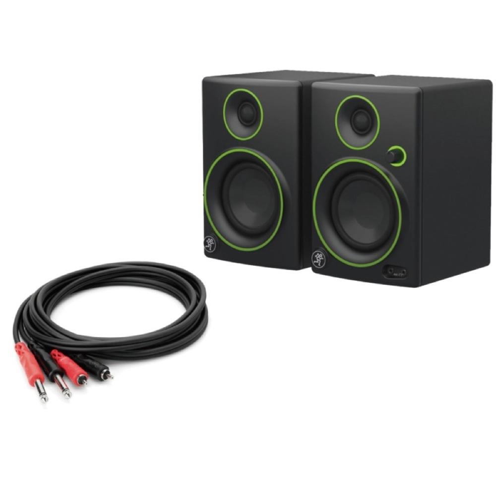 MACKIE CR3 Multi Media Monitor Speaker 1ペア モニタースピーカー Hosa CPR-202 2m モノラルフォン×2-RCAピン×2 オーディオケーブル付きセット