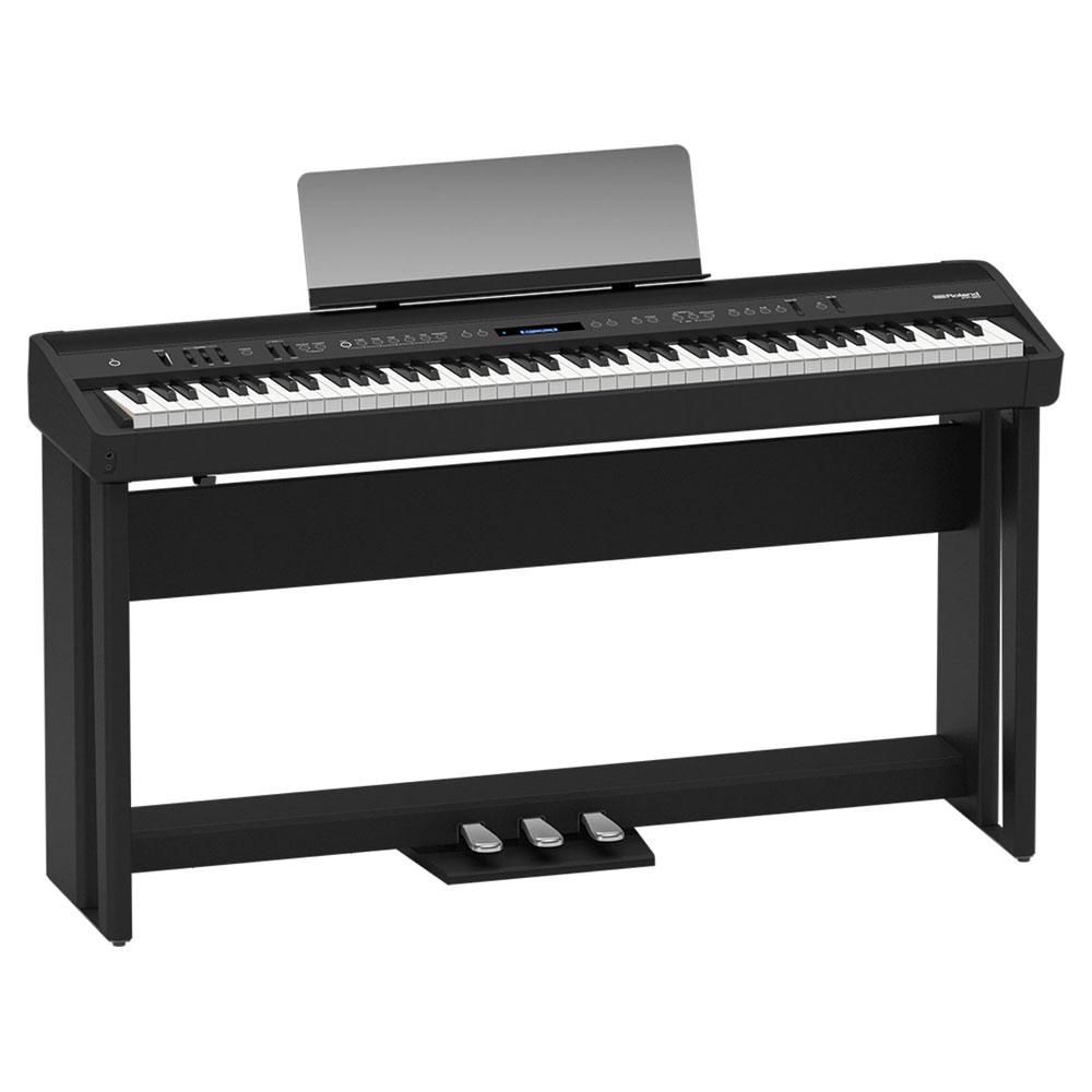 ROLAND FP-90-BK Digital Piano ブラック デジタルピアノ 純正スタンド&ペダルユニット付き セット